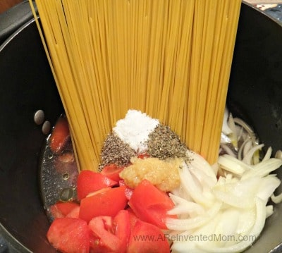 One Pot Pasta | A Reinvented Mom