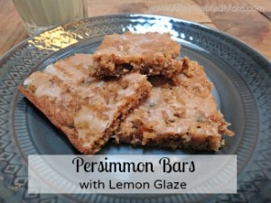 Persimmon Bars with Lemon Glaze
