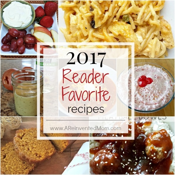 2017 Reader Favorite Recipes | www.AReinventedMom.com