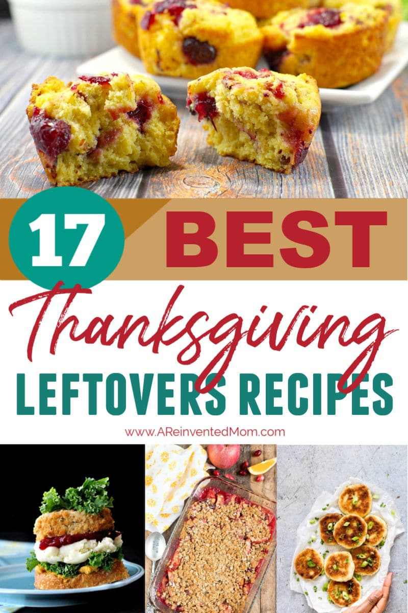17 Best Thanksgiving Leftovers Recipes Collage Pin | A Reinvented Mom