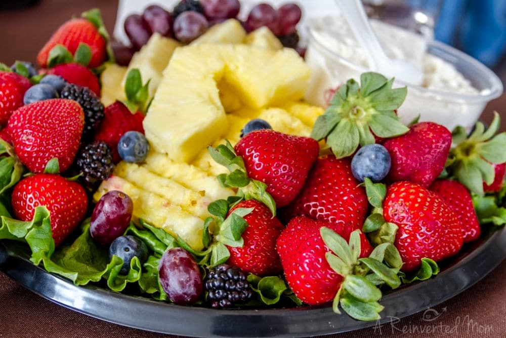 Using Leftover Party Food Fruit Tray | A Reinvented Mom #partyleftovers #leftoverpartyfood